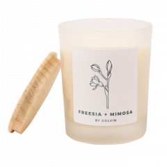 Vela Mimosa y Freesia