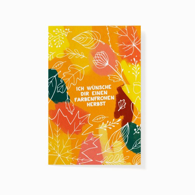 """Pflanzbare Karte """"Ein Herbst voller Farben"""""""
