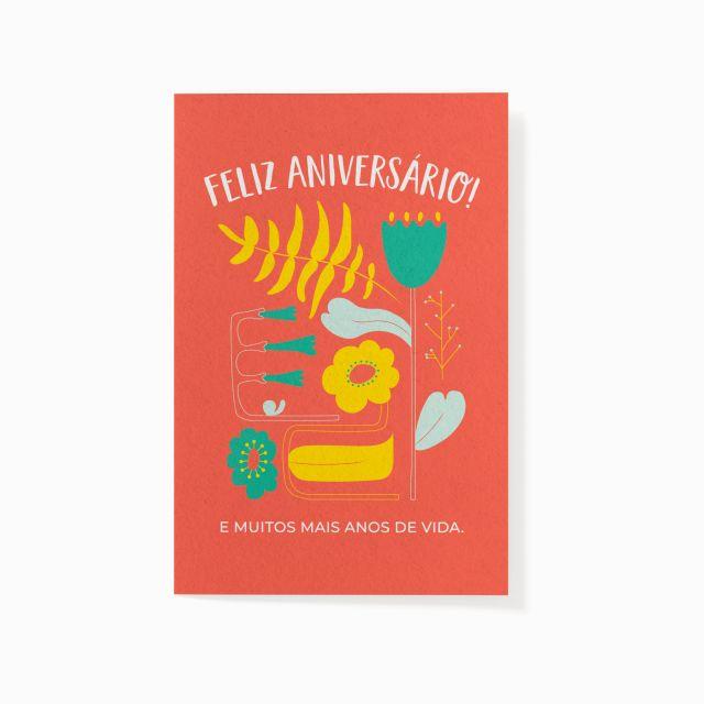 """Cartão plantável """"Feliz Aniversário"""""""