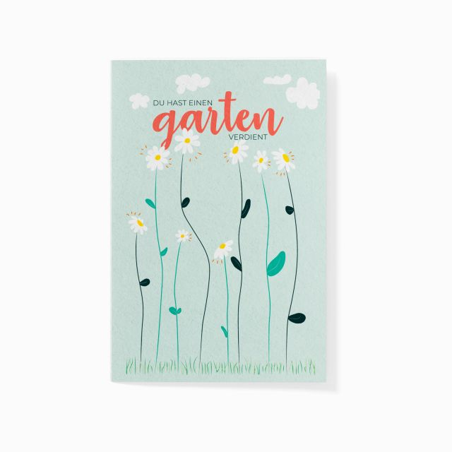 """Pflanzbare Karte """"Ein Garten für Dich"""""""