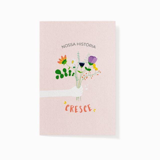 """Cartão plantável """"O nosso só cresce"""""""
