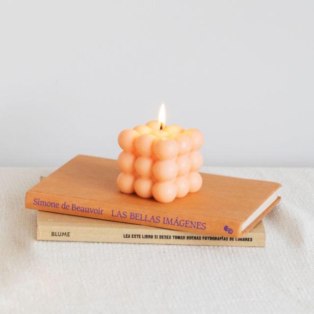 Vela burbujas naranja