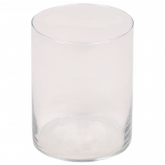 Maceta de cristal transparente