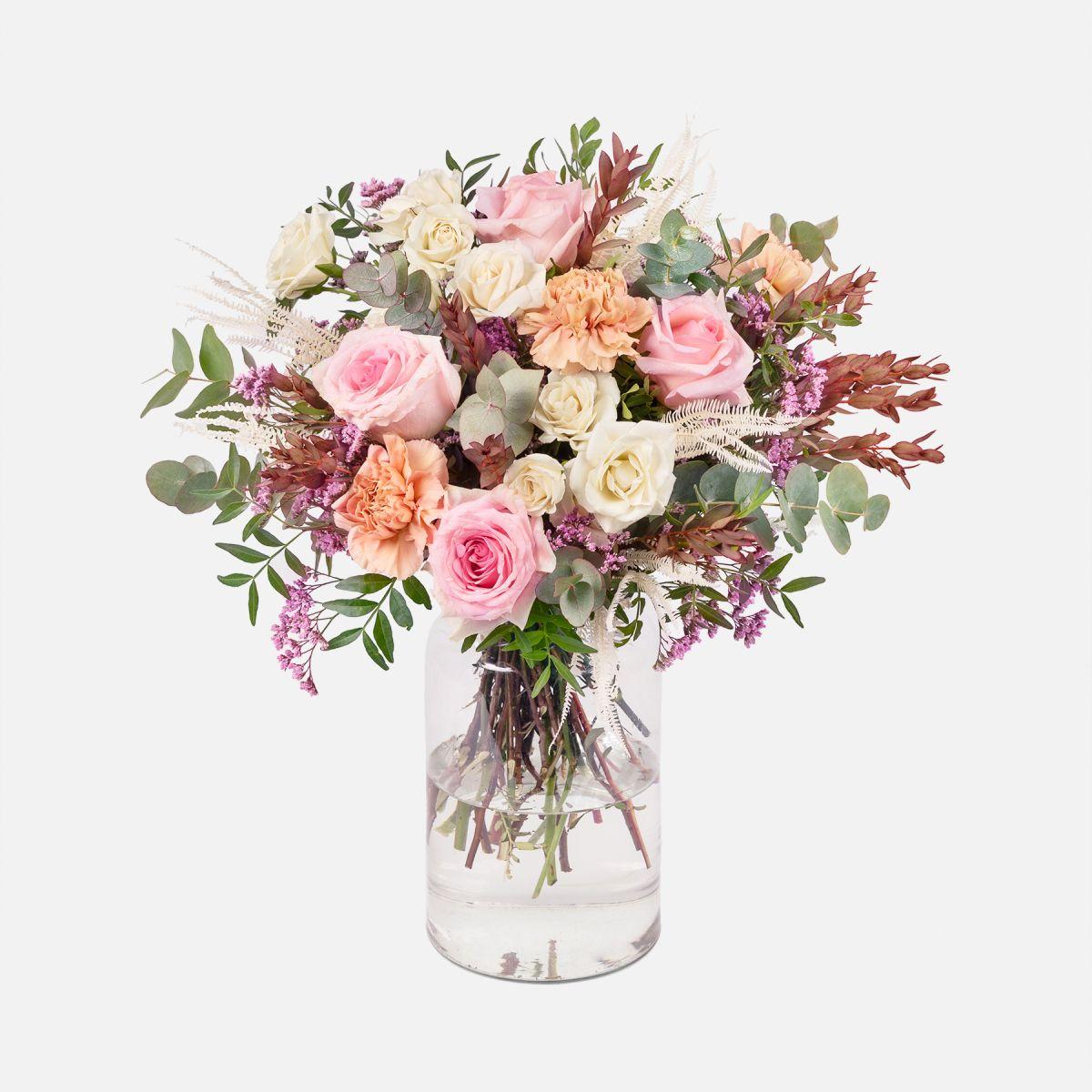 Mazzo di Fiori di Rose Rosa e Garofani - Landscape - Fiori a domicilio - Colvin
