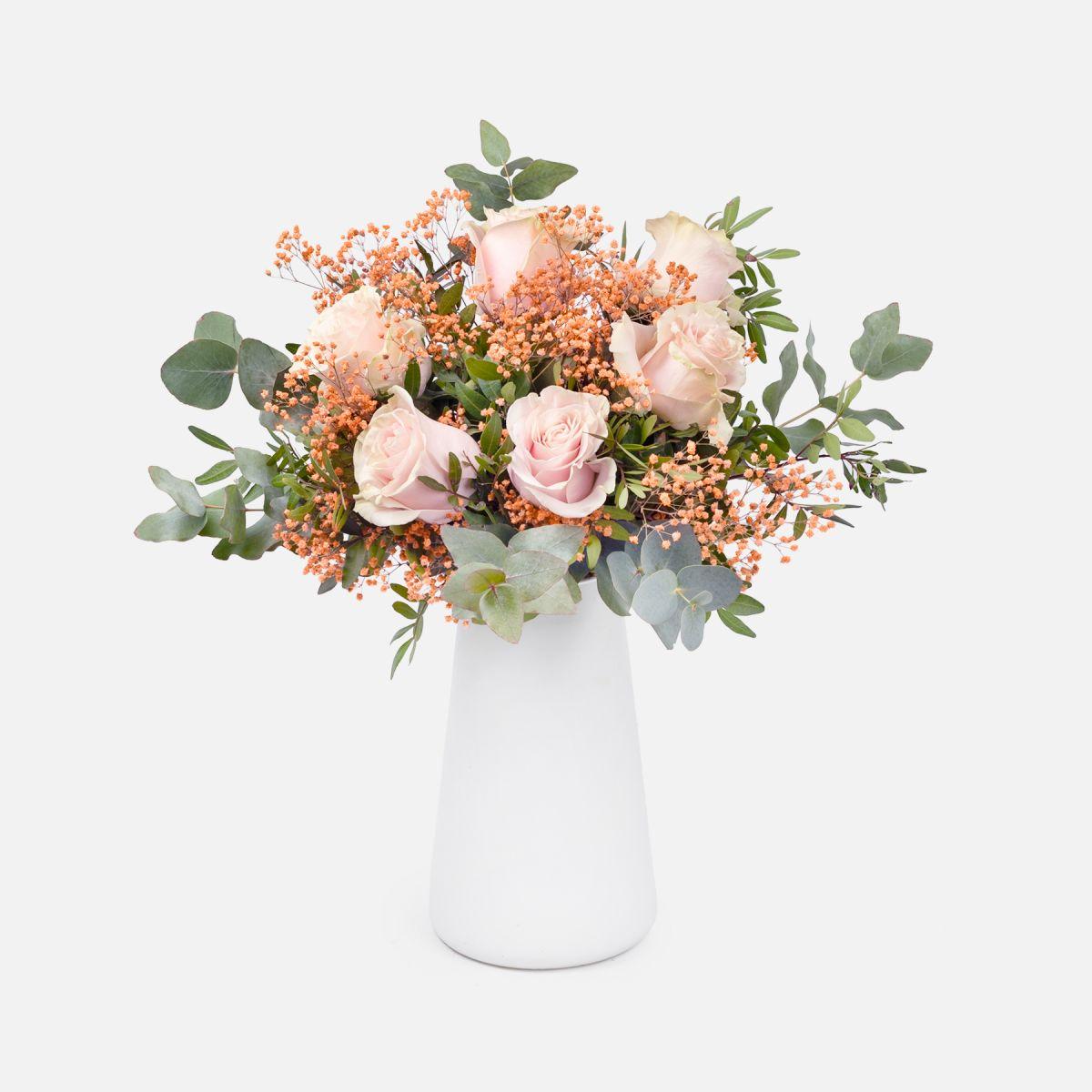 Mazzo di Fiori di Rose Rosa - Fiori LUCKY - Fiori a domicilio - Colvin