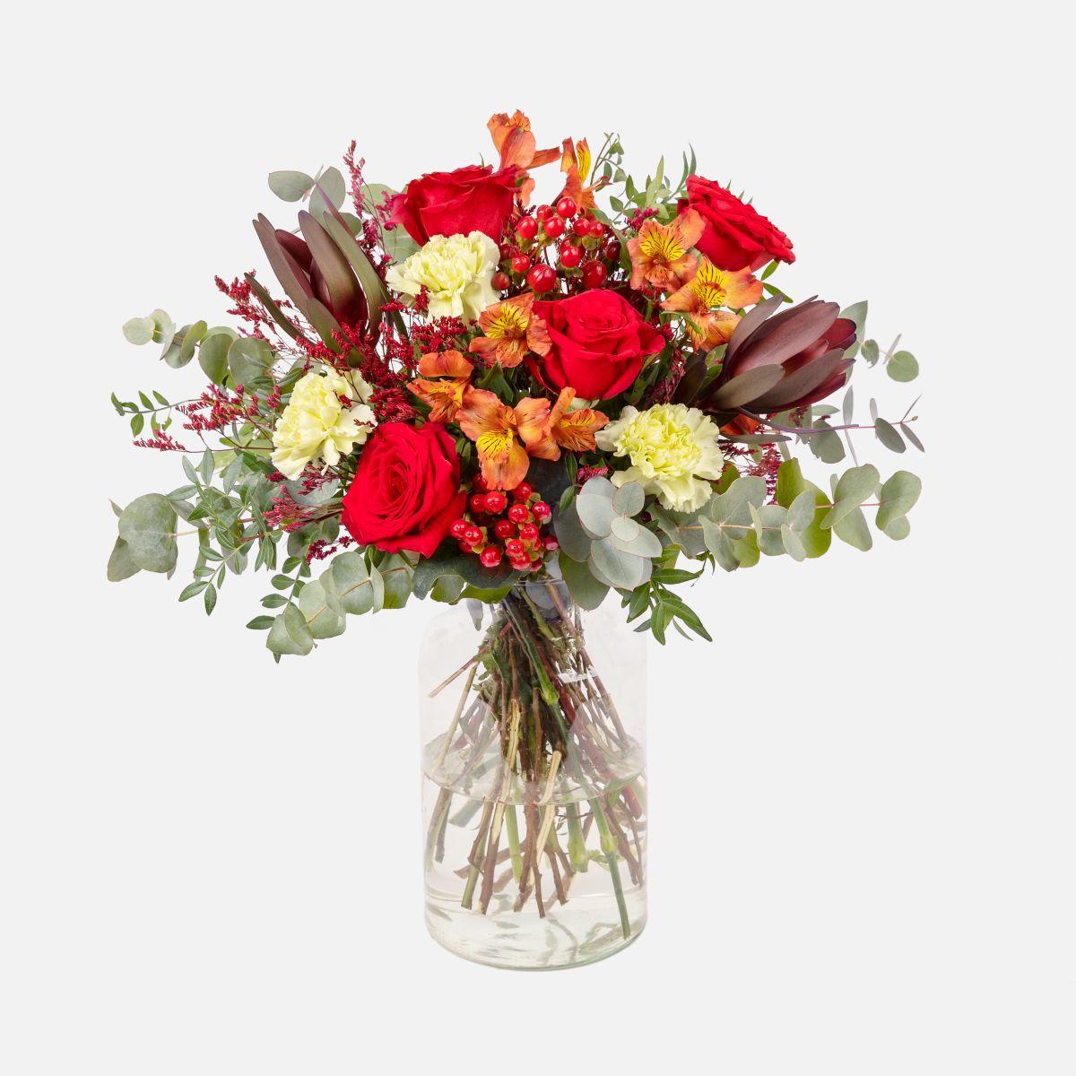 secar ramos de flores con rosas rojas