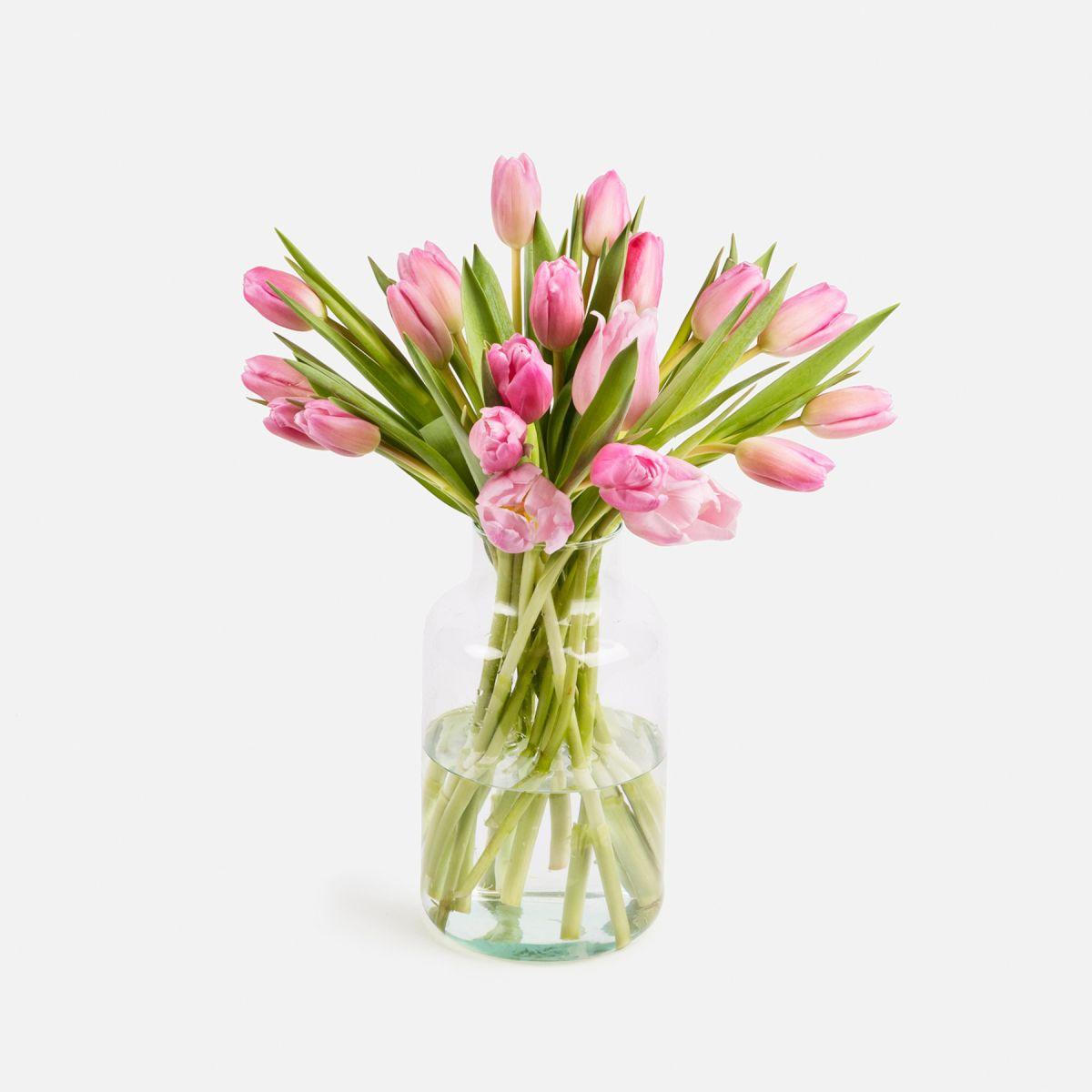 Mazzo di Tulipani Rosa - Rose Quartz - Fiori a domicilio - Colvin