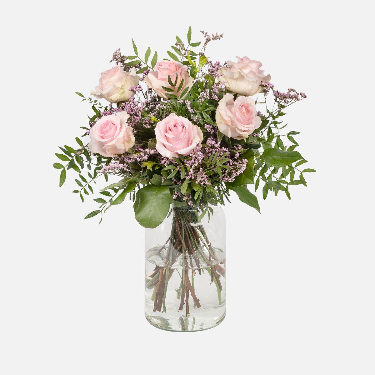 Fiori a domicilio - Rose rosa e Limonium - Sundays - Colvin