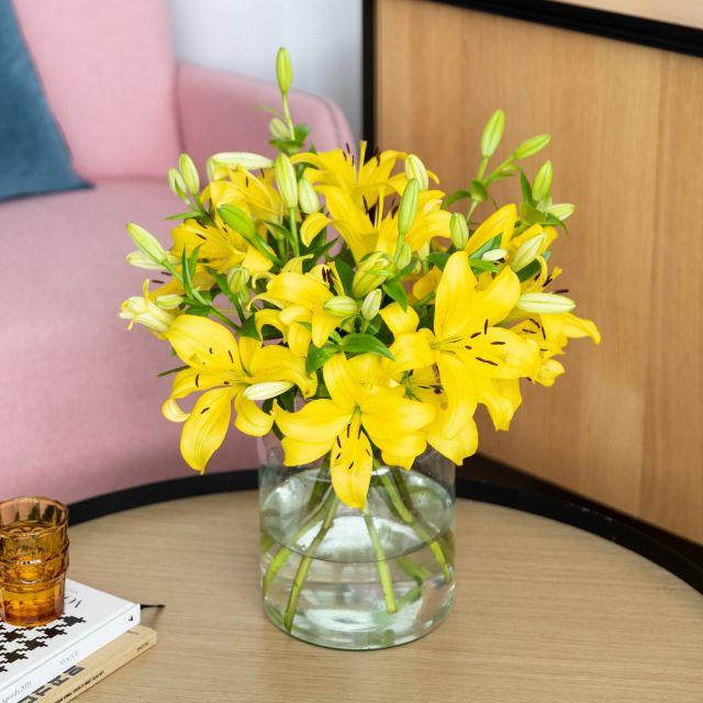 Envío online ramo de lirios amarillos