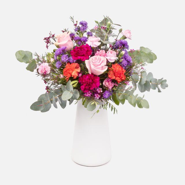 Mazzo di Fiori di Rose Rosa e Limonium - BITTERSWEET - Fiori a domicilio - Colvin
