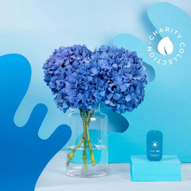 bouquet di ortensie blu