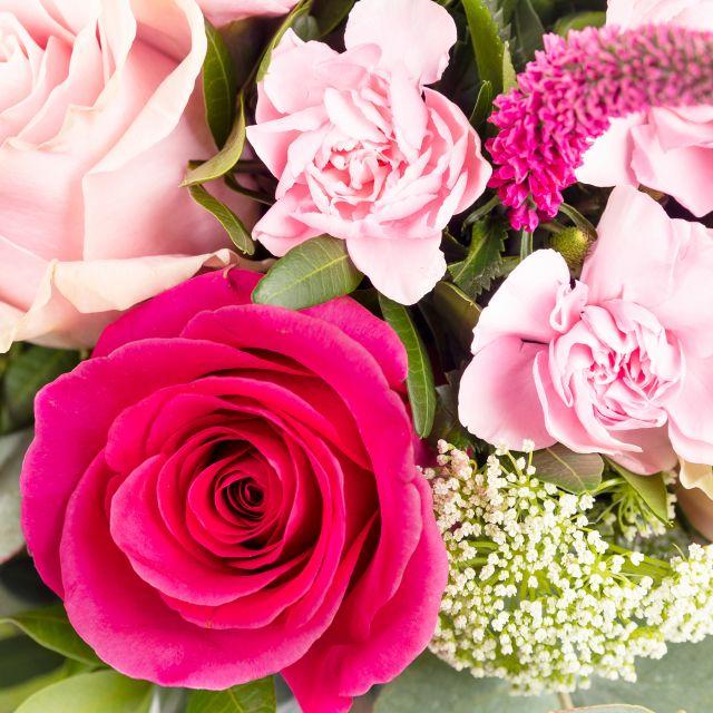 Enviar ramo de flores de rosas rosa