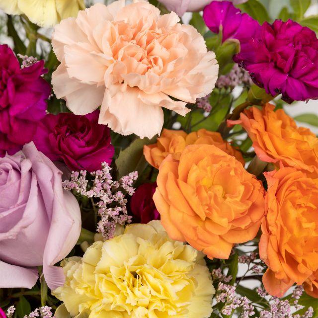 Blumenstrauß mit Rosen und Nelken online verschicken
