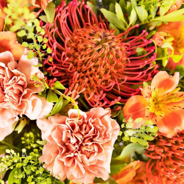 Blumenstrauß aus orangenen Nelken versenden