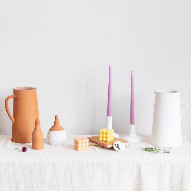 comprar jarron de ceramica blanca