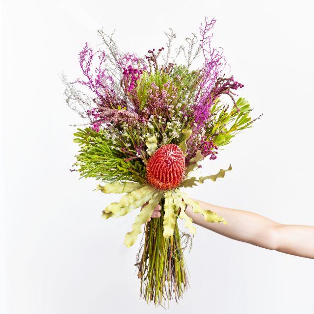 Blumenstrauß mit Banksia und Stoebe verschicken