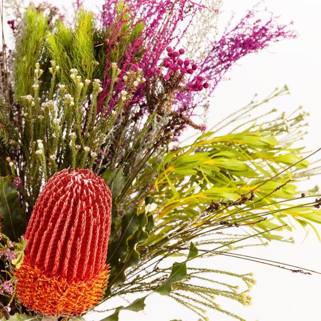 Blumenstrauß mit Banksia und Stoebe kaufen