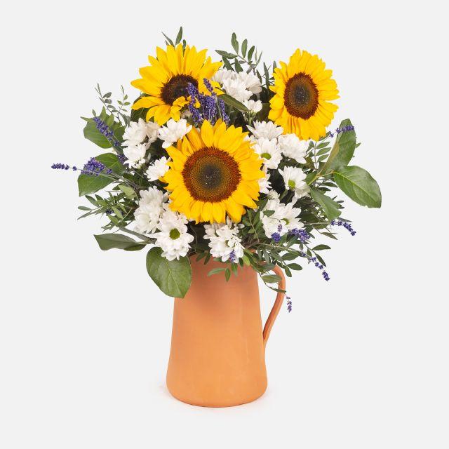 Ramo de flores con girasoles feeling good colvin