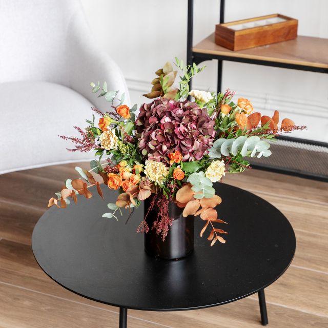 Ramo con hortensia antique y erica flor