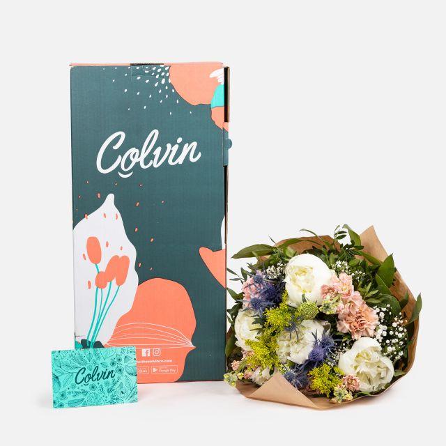 Enviar ramo de flores com peonias brancas online