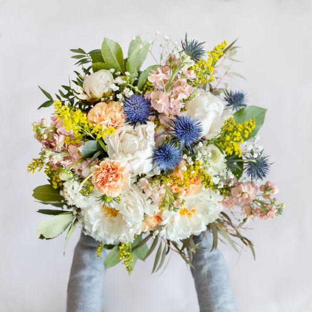 Blumenstrauß aus weißen Pfingstrosen online versenden