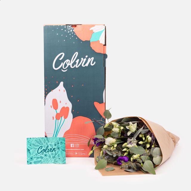 Enviar flores online de lavanda e eucalipto