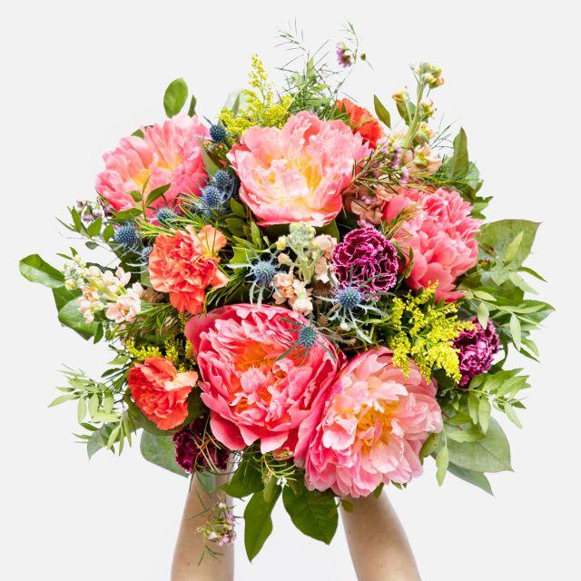 Enviar ramo de flores peonias e cravos ao domicilio