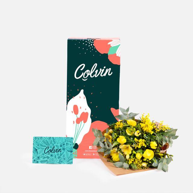 Enviar ramo de flores online de mimosa y fresias