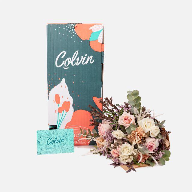 Onlineversand von Blumenstrauß mit Rosen und Nelken