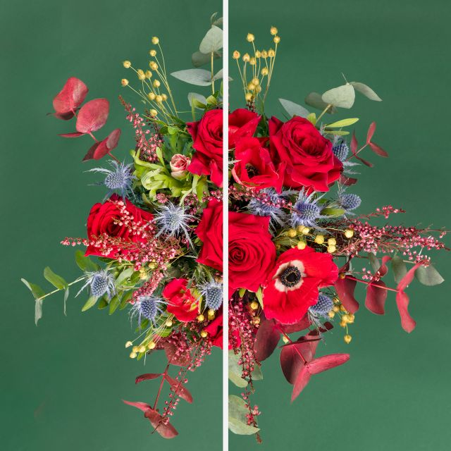 Envío a domicilio de ramo de flores con anémona