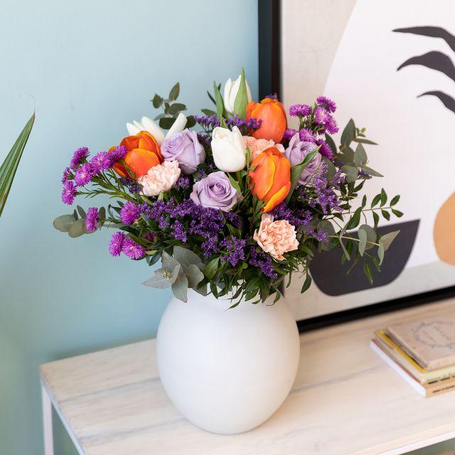 Enviar ramo de flores a domicilio tulipas e rosas