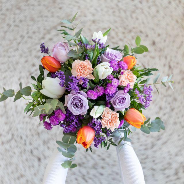 Enviar ramo de flores online tulipas e rosas