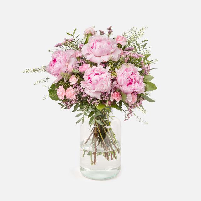 Blumenstrauß aus rosa Pfingstrosen online versenden