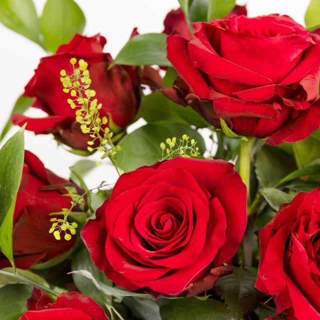 Blumenstrauß mit roten Rosen versenden