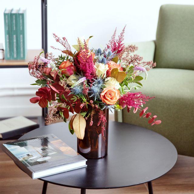 Ramo de flores con magnolia