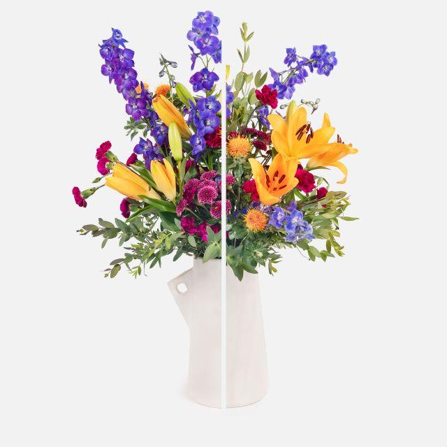 Bouquet con crisantemi e gigli
