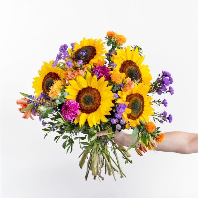 Envío online girasoles y crisantemos