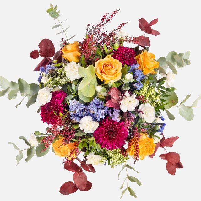 Consegna online di bouquet di fiori con crisantemi viola