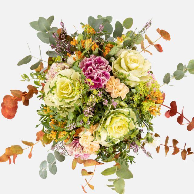 Ramo de flores online de brassicas anaranjadas