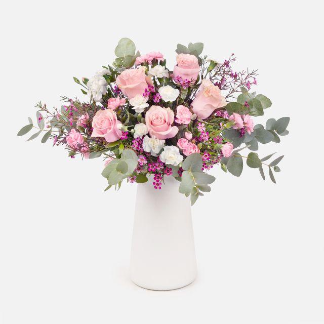 Mazzo di Fiori di Rose Rosa e Rose Bianche - OUR STORY - Fiori a domicilio - Colvin