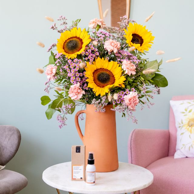 Pack con bouquet Find Your Sun + Crema