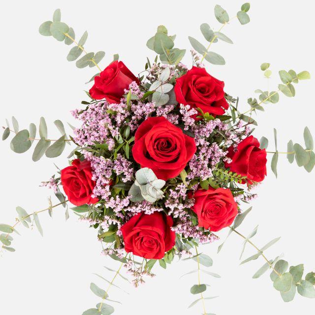 Ramo de rosas rojas para San Valentín