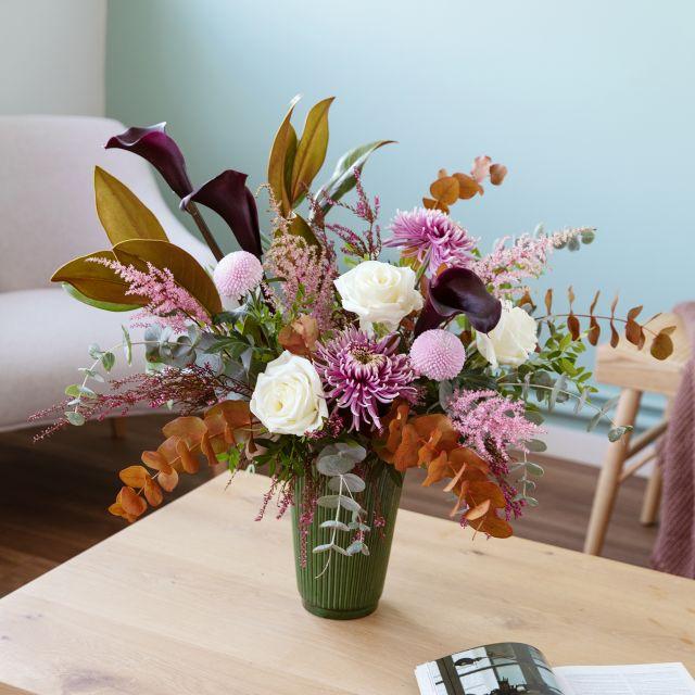 Comprar rosas blancas y crisantemo online