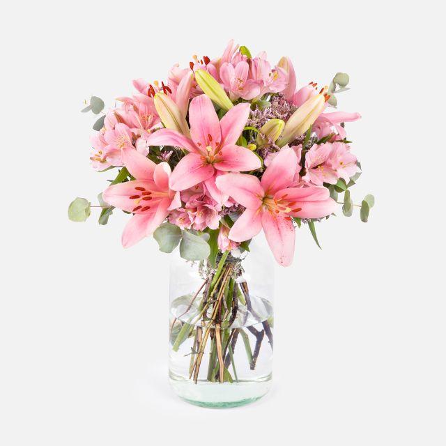 Pure Pink - Lilium e Astromerie Rosse - Fiori a domicilio - Colvin