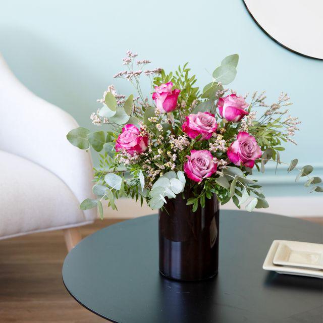 Ramo de flores rosas deep purple a domicilio