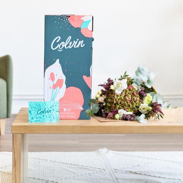 Envío online Ramo de hortensia y claveles