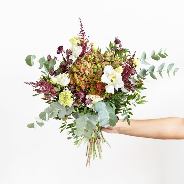 Enviar Ramo con hortensia y claveles