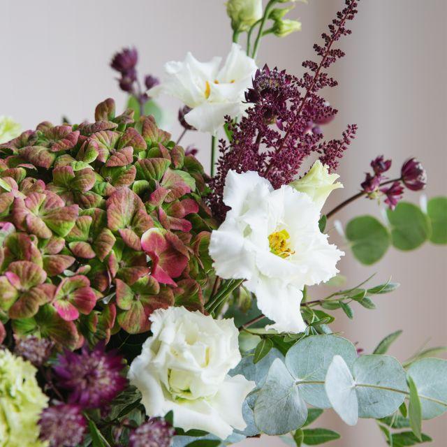 Comprar Ramo con hortensia y claveles