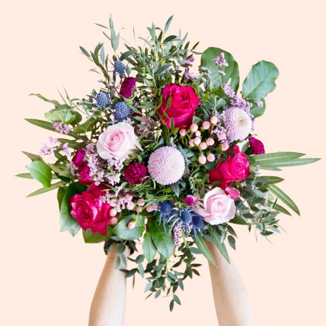 Blumenstrauß mit Rosen und Chrysanthemen zum Muttertag versenden