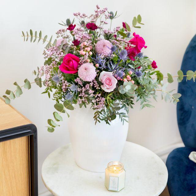 Blumenstrauß mit Rosen und Chrysanthemen für den Muttertag kaufen
